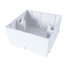 AV Single Back Box - 2 Module 45mm Deep - White