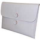 iPad Tablet PC Sleeve - White Faux Leather Design