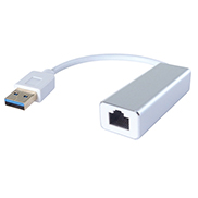 USB 3 to RJ45 Cat 6 Gigabit Ethernet Adapter - Male to Female