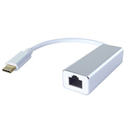 USB Type C to RJ45 Cat 6 Gigabit Ethernet Adapter - Male to Female