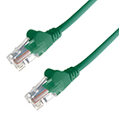 15m RJ45 CAT5e UTP Stranded Flush Moulded Network Cable - 24AWG - Green