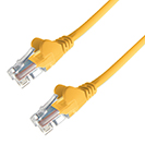 1.5m RJ45 CAT5e UTP Stranded Flush Moulded Network Cable - 24AWG - Yellow