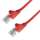 10m RJ45 CAT6 UTP Stranded Flush Moulded LS0H Network Cable - 24AWG - Red