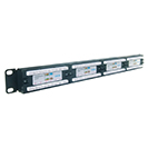 24 Port Patch Panel (Cat5e) IDC Punch Down 19 inch