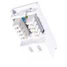 Single IDC RJ45 Shuttered Module 25 x 50mm (Cat5e) - White