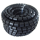10m Cable Tidy Spiral Wrap with Application Tool 20mm OD - Black