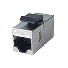 RJ45 CAT5e Coupler - Shielded - Silver